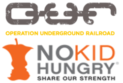 Artsy Events party entertainment donates to Operation Underground Railroad and No Kid Hungry