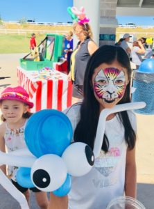 face painting and balloon animals together in Denver CO